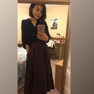 Vintage Apple Maxi Skirt